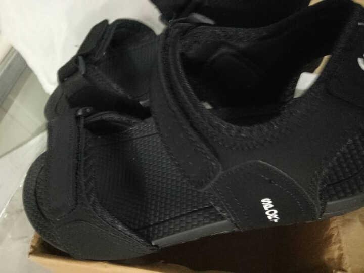 策尊青少年越南鞋皮凉鞋男户外沙滩鞋夏季韩版休闲拖鞋 黑色 40 晒单图
