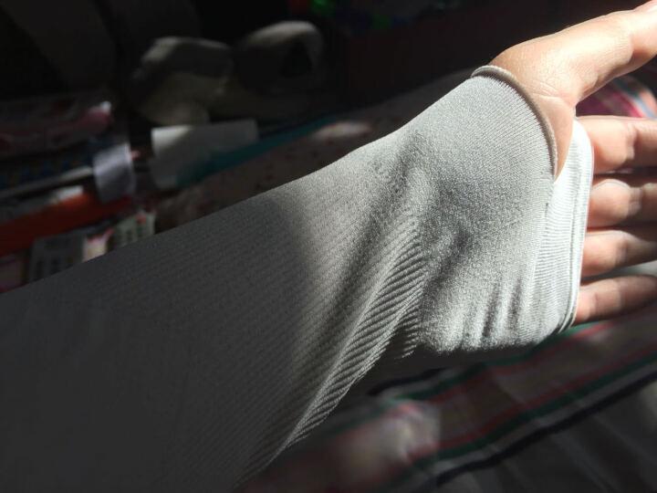 蓝诗梦戴韩版冰丝防紫外线手套袖子夏季冰袖开车防晒袖套手臂套男女士长款 (有拇指) 水粉色 晒单图