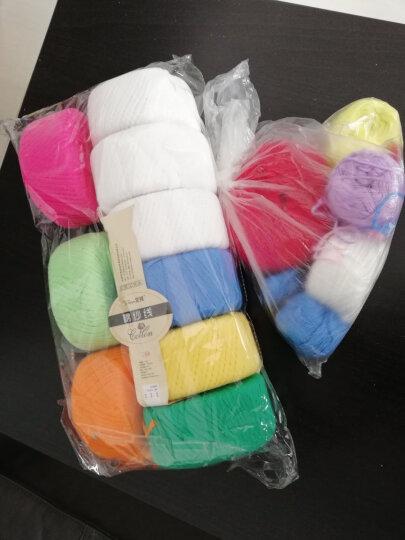 艾秀 纯棉线 棉纱线宝宝毛线 【2.5两】牛奶棉线 婴儿童毛线 全棉毛线精梳棉毛线 214水绿 晒单图