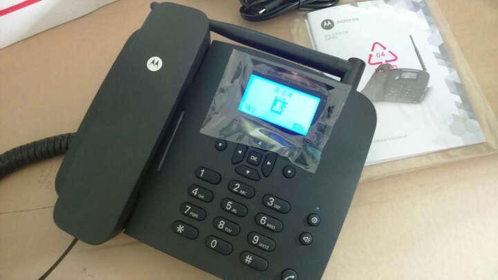 摩托罗拉 FW200L 插卡无线座机 移动2/3/4G卡 无线固话 插卡电话机 低辐射 手机卡 电信版黑色 晒单图