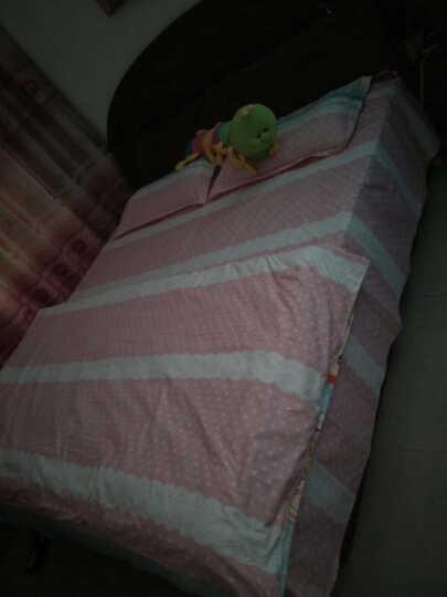 莫恩 活性磨毛四件套 美棉澳绒床上用品床单被套床品套件 魔力圈圈 1.5/1.8米床 被套200*230CM 晒单图