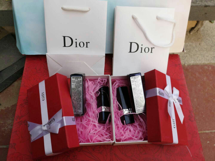 【专柜正品】Dior迪奥口红女士唇膏 080#赠玫瑰礼盒 晒单图