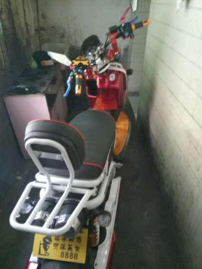 日杰(RIJIE)祖玛电动车电动摩托车电瓶车1800W72V踏板摩托车电车电摩军绿色 蓝色米子 旗 超威72v20A 6个电瓶 晒单图