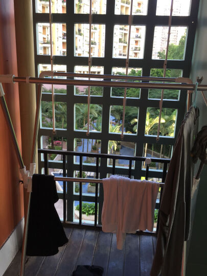 爱丽思(IRIS)室内阳台x型不锈钢落地折叠晾衣架双杆伸缩置地晒衣架 晒单图