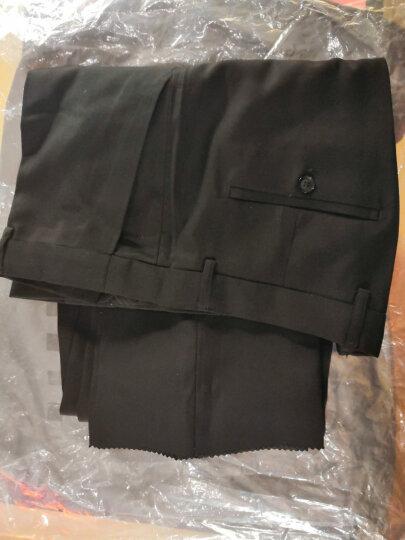 中山装男青年唐装汉服套装韩版修身中式礼服外套 黑色 L 晒单图