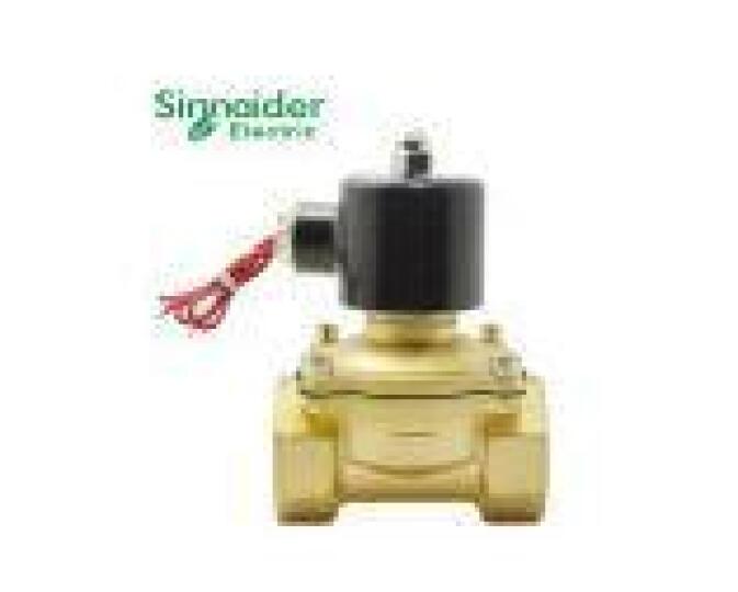 Sinnaider 纯铜电磁阀 水油蒸汽控制阀门 常闭12V/24V/220V DN15  4分管 (2W160-15) 220v 晒单图