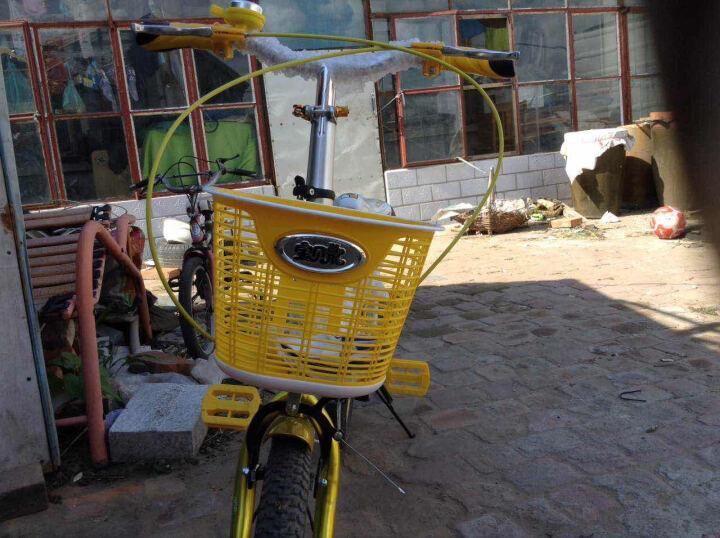 宝贝龙 小孩子儿童自行车知更鸟儿童折叠自行车学生小孩子12/16寸便携单车童车多省包邮 知更鸟黄色带辅助轮 16 晒单图