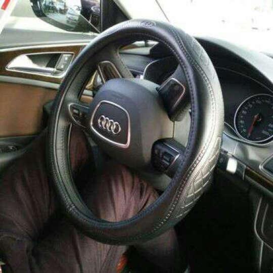 卡佳K2汽车方向盘套真皮新款奔驰宝马3系5系X3X5奥迪a4A6Lq3Q5大众途观速腾迈腾 新款黑色 奥迪A3/A4L/A5/A6L/Q3/Q5/Q7 晒单图