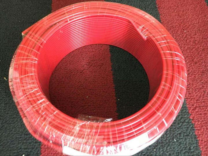双菱电线电缆 BV4平方国标家装家用空调热水器用线 单芯单股纯铜芯硬线 100米足米 红色火线 晒单图
