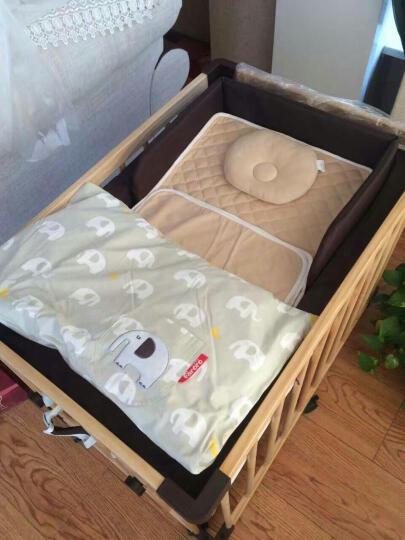 FARORO婴儿床 实木宝宝床无油漆环保多功能可变沙发游戏围栏bb童床 小床 晒单图