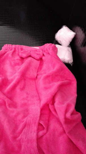 名佑 浴巾 百变浴巾 可穿浴巾 强吸水百变魔术浴袍 多款选择  男女通用款 玫红色 W 晒单图