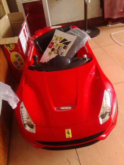 法拉利儿童电动车 四轮童车可坐 宝宝玩具车双驱可遥控的小孩电动的汽车1 烤漆黄色 双驱双电+遥控+摇摆+礼品 晒单图