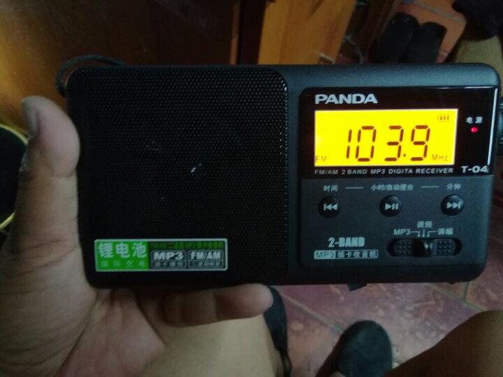 熊猫(PANDA)6203锂电二波段收音机 小型袖珍便携式插卡迷你音响 老人半导体(白色) 晒单图