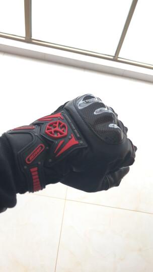 赛羽(SCOYCO)摩托车手套夏季透气赛车防摔全指男女四季碳纤维手套可触屏 夏季透气红色(不防水) XXL 晒单图