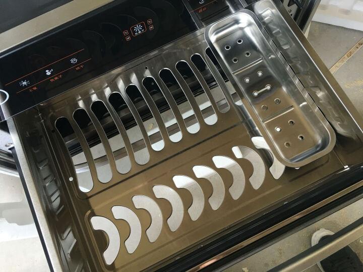 森太(SETIR) F266消毒柜嵌入式家用厨房消毒碗柜 黑色钢化玻璃轻触按键款 F299银黑一体冲压升级款 晒单图