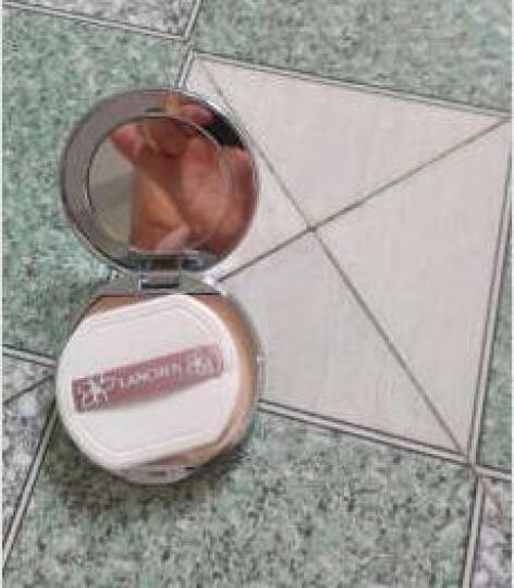 蓝秀(lanchen)柔光丝缎粉饼LCE03#偏暗肤色的肌肤适合(彩妆粉底霜 遮盖控油 持久保湿) 晒单图