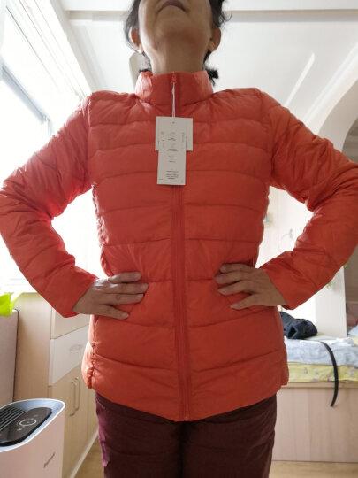 omlesa轻薄羽绒服女短款立领修身韩版新款秋冬装外套正品女装羽绒衣 浅驼色 XL(110-120斤) 晒单图
