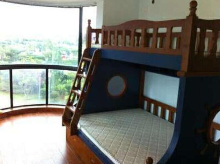 莫塔 MOTTA 加固版海盗床全实木双层床上下铺儿童床上下床高低床子母床地中海 梯柜床+拖床(送书架) 1200*1900 晒单图