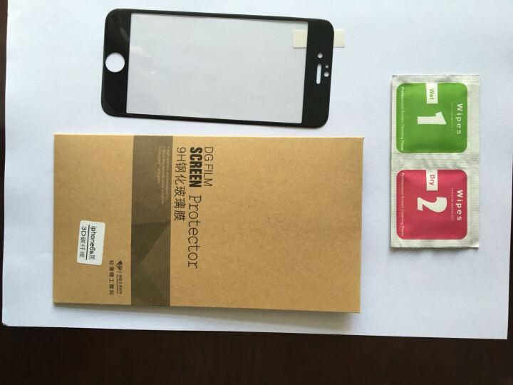 倪尔克 苹果7钢化玻璃膜 全屏3D曲面全屏覆盖手机贴膜 适用iPhone6/6s plus 苹果7/6S-4.7寸3D曲面全覆盖-黑色 晒单图