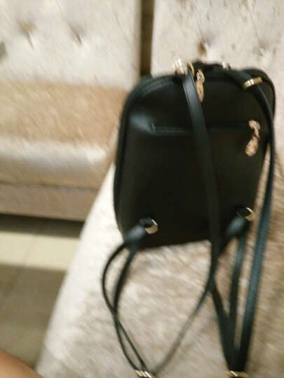 思米妮卡(SMINICA)双肩包 女包新款韩版时尚女士包包学院风背包可爱休闲书包1815 黑色 晒单图