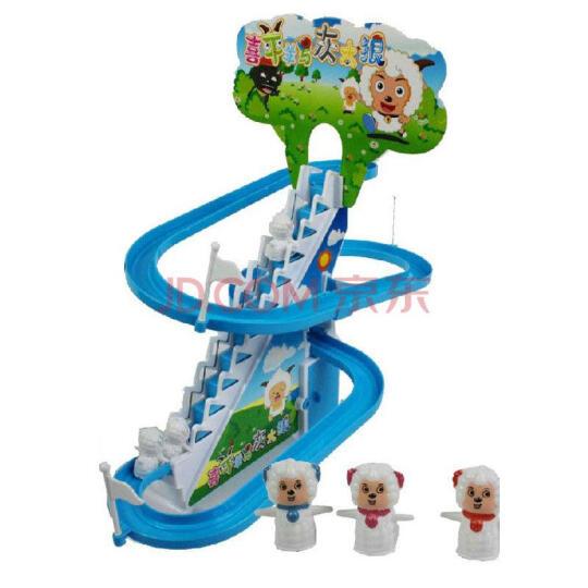 电动小企鹅小猪爬楼梯全自动旋转滑滑梯拼装轨道 宝宝儿童早教益智玩具 六一儿童节礼物 大号熊出没 充电款+2组充电套装 晒单图