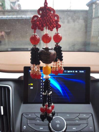 蓝轩 汽车挂件 双貔貅挂饰摆件车内装饰品车挂车载吊坠木制 礼盒装 红色珠子-红色麦穗 晒单图