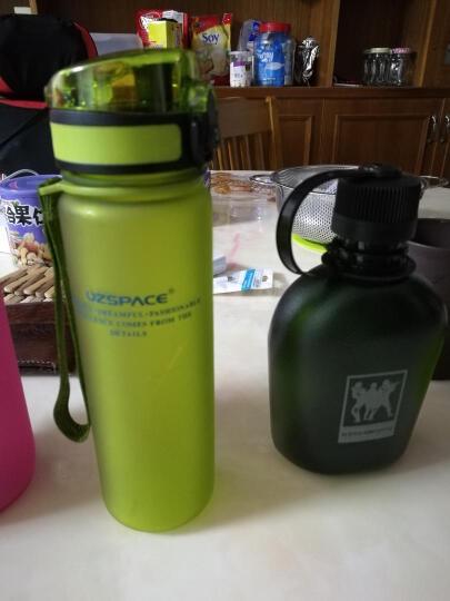UZSPACE优之准军壶户外野营78准军式塑料运动水壶旅游便携环保水壶 磨砂土黄 500ML 晒单图