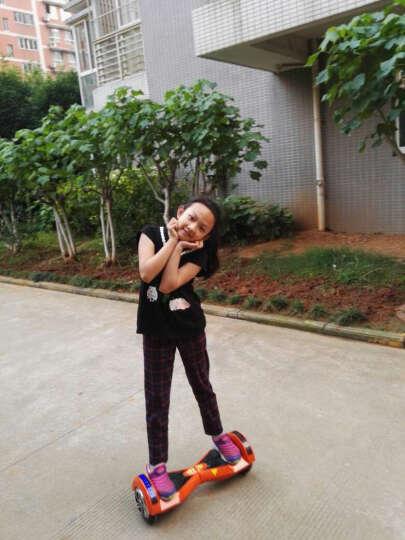 傲凤(AOFENG) 傲凤平衡车两轮儿童双轮电动车成人智能代步车 LED轮毂/8吋跑马灯/迷彩蓝 晒单图