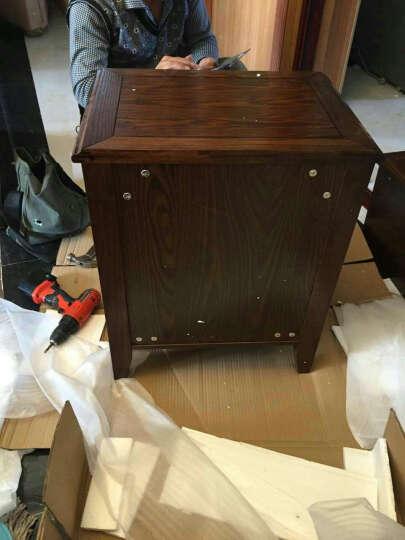 LAGO 床头柜 美式实木床头柜储物柜一抽一门床头柜 美式乡村床边柜卧室家具 一抽一门床头柜 晒单图