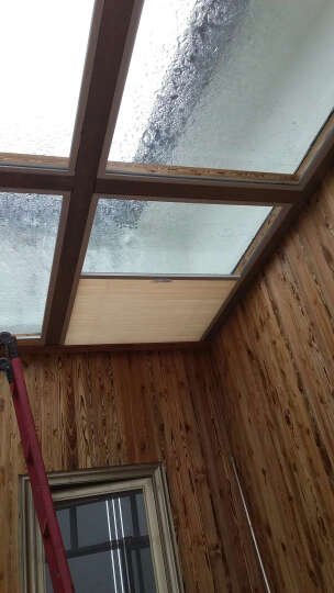 CR9 蜂巢帘阳光房遮阳天棚帘 卧室阳台遮光拉帘天窗百折窗帘定制 安装费三百 晒单图