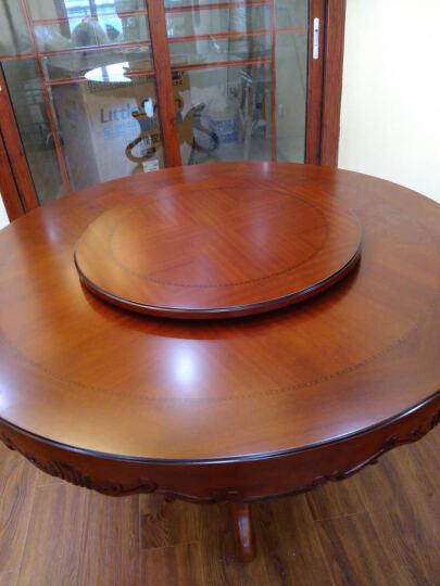 简右家具 欧式实木圆桌 豪华雕花餐桌 橡木餐桌椅 吃饭圆台 1.3米圆桌+配套转盘 晒单图