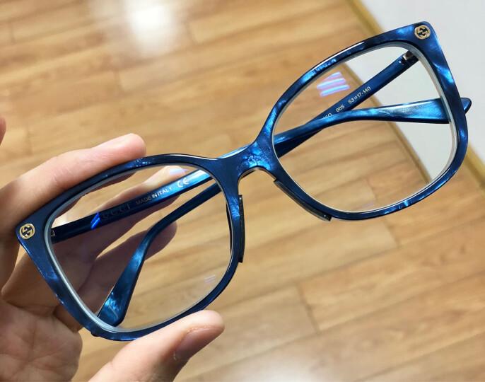 古驰(GUCCI)眼镜框女 镜架 透明镜片哈瓦那色镜框GG0026O 002 53mm 晒单图