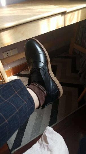 Tata/他她男鞋牛皮绑带平底时尚加绒保暖短靴休闲靴子男QQU46DD6 黑色(皮里) 40 晒单图