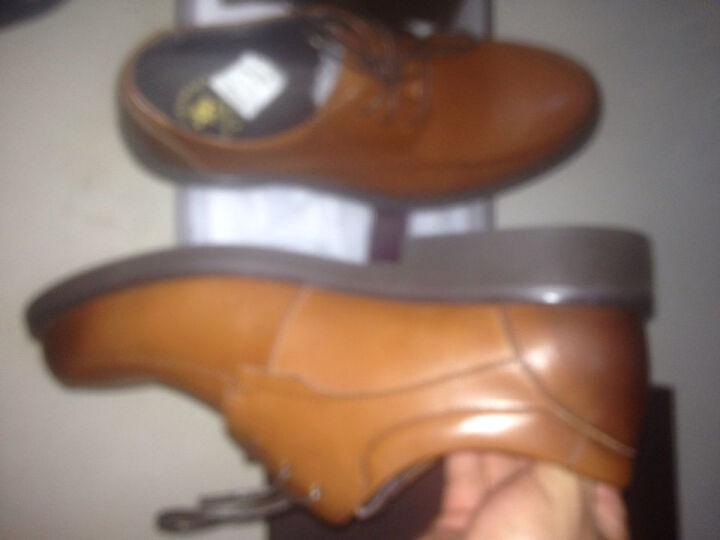 圣大保罗皮鞋男真皮商务休闲鞋英伦男士皮鞋系带正装男鞋 棕色 40码 晒单图