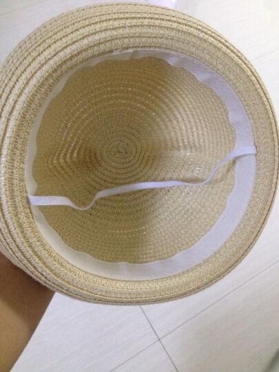 汉朴思亲子帽韩版Q萌可爱猫耳朵草帽礼帽夏天女小熊亲子帽儿童遮阳帽沙滩帽子 浅咖色 儿童(52CM-54CM) 晒单图