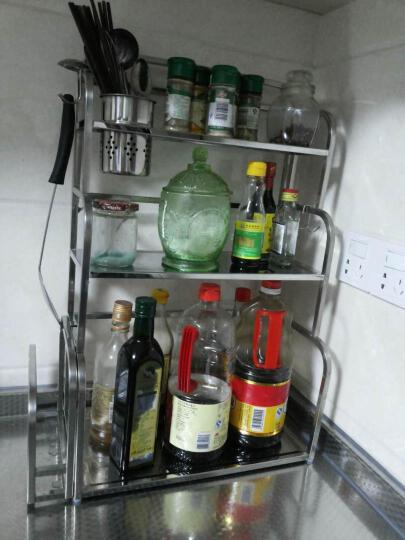 达希尼 304不锈钢厨房置物架壁挂 落地厨房挂件 刀架收纳架 三层+菜板架 40cm长度三刀插 晒单图