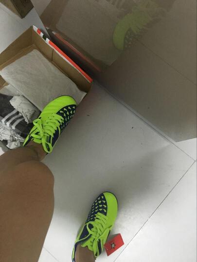 春季足球鞋男碎钉TF/AG长钉比赛训练短钉鞋青少年儿童足球鞋防滑运动鞋 1666荧光蓝 35 晒单图