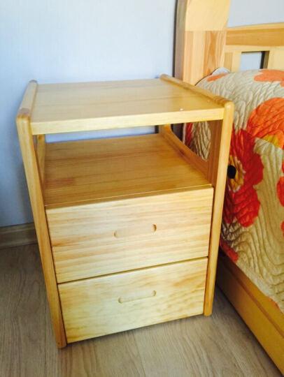 陌兰实木床头柜迷你床边柜小户型现代简约卧室床头桌松木抽屉式储物柜 36款白色带滑道 晒单图