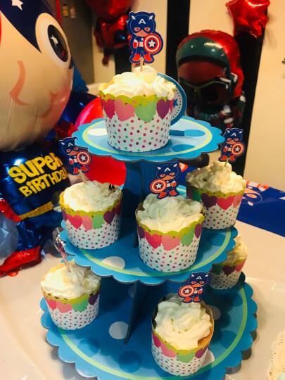 美涤(MEIDI) 烘焙器具 新年纸质双层蛋糕架 纸杯蛋糕饼干置物架 蛋糕托盘 三层大气球款 晒单图