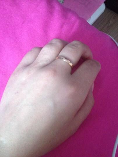 金悦美 彩金戒指 18k玫瑰金光面戒指黄金戒指男士戒指指环女款 22号 18K玫瑰金 晒单图