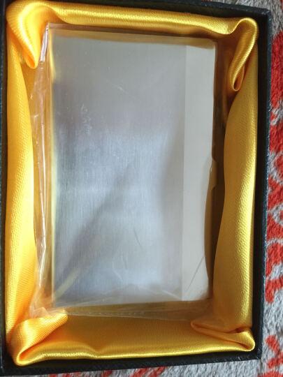 杜尔名片夹男士商务金属名片盒女士办公卡盒可激光刻字 薄款-直线 晒单图