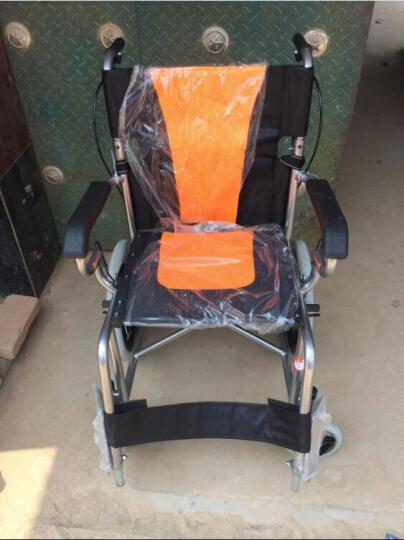 亿佰康轮椅折叠轻便手动轮椅车 老人旅行便携小轮椅 儿童免充气轮椅 实心胎轮椅代步车 后轮免充气 晒单图