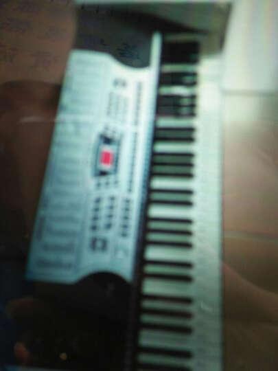 俏娃宝贝(QIAO WA BAO BEI) 儿童电子琴61键电钢琴玩具 带液晶显示带电源 智能灯光教学电子琴黑色+送琴架+大礼包 晒单图