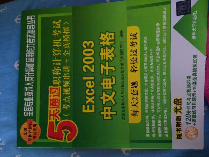 5天通过职称计算机考试:Excel 2003中文电子表格(考点视频串讲+全真模拟) 晒单图