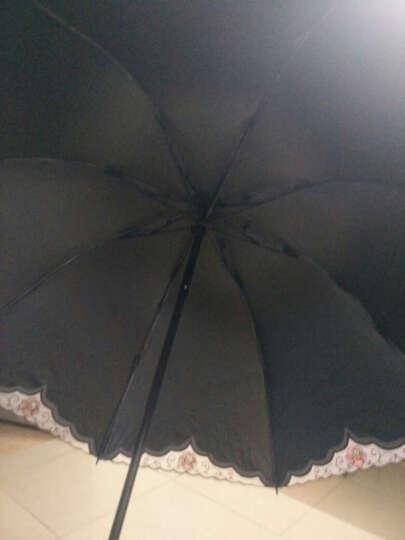 上海故事热卖太阳伞夏季防紫外线黑胶遮阳伞韩版女士绣花公主伞小巧折叠铅笔晴雨伞 碎花圃 晒单图