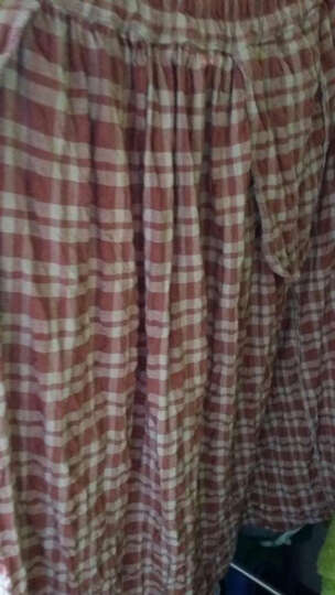 如素慢衣新款连衣裙长袖民族风碎花棉麻印花长裙4049 红腰果 均码 晒单图