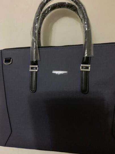 爱登保罗 男包男士公文包精品休闲商务时尚手提包单肩包 男包实惠三件组 GW1550 横款灰蓝色 晒单图