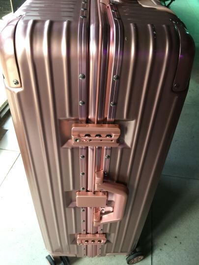 【一体化铝框 12万好评】EAZZ铝框拉杆箱万向轮行李箱男女士登机箱20寸24寸28寸旅行箱26定制 拉链-魅惑红 24英寸-1-4天中短途 晒单图