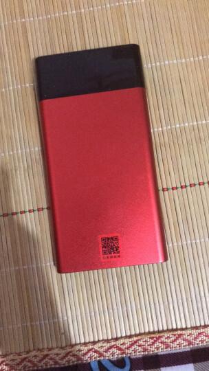 品胜(PISEN)10000毫安聚合物移动电源/充电宝超薄小巧 便携创意 双输出 LED薄彩2白玉银 晒单图