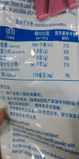 金龙鱼 原味豆粉豆浆粉450g/袋 早餐谷物原味速溶大豆粉甜豆粉速溶暖饮水冲饮即食餐饮豆浆粉使用方便 1包 晒单图